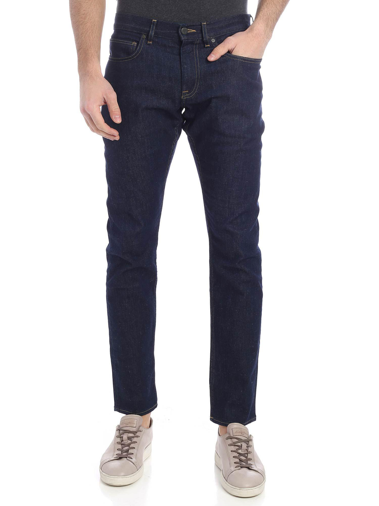 hot-selling clearance great variety styles in stock Calvin Klein 5 Pocket Dark Blue Jeans for Men - Lyst