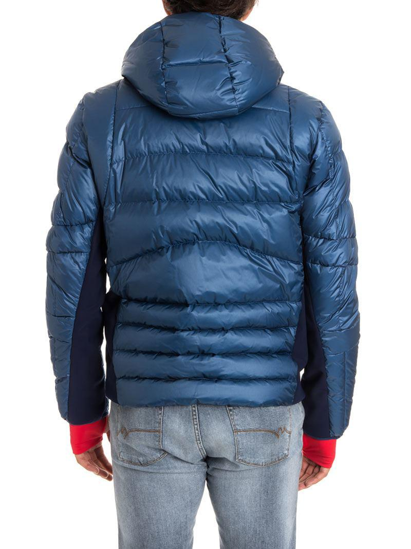 3 MONCLER GRENOBLE Synthetic Hooded Down Jacket in Blue for Men