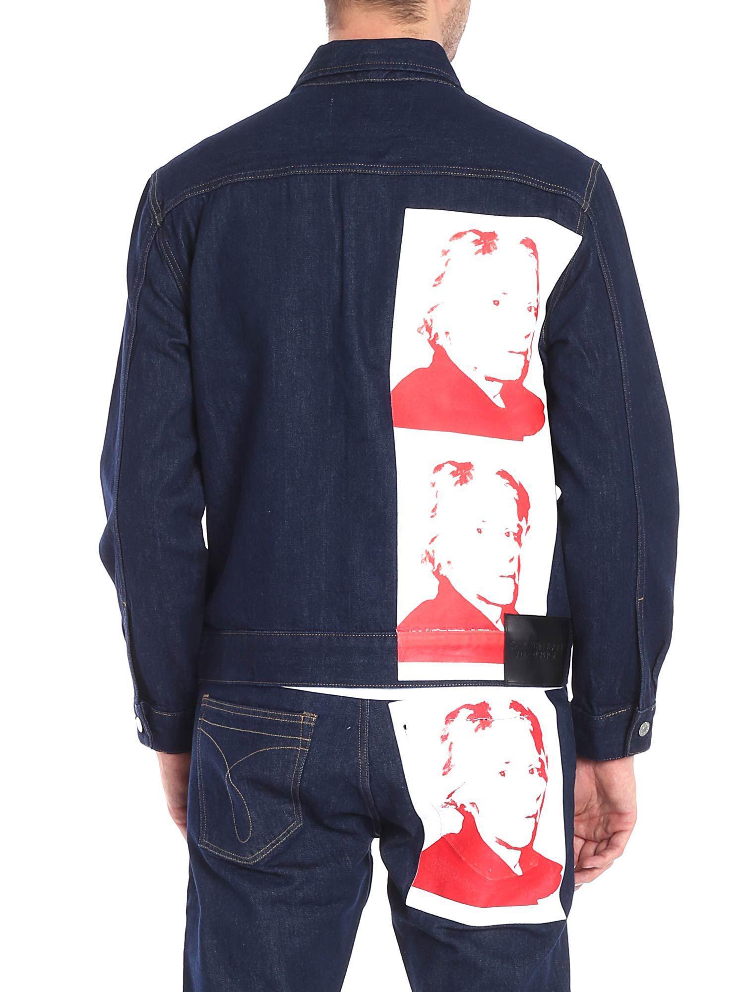 Calvin Klein Andy Warhol Denim Jacket In Blue For Men Lyst