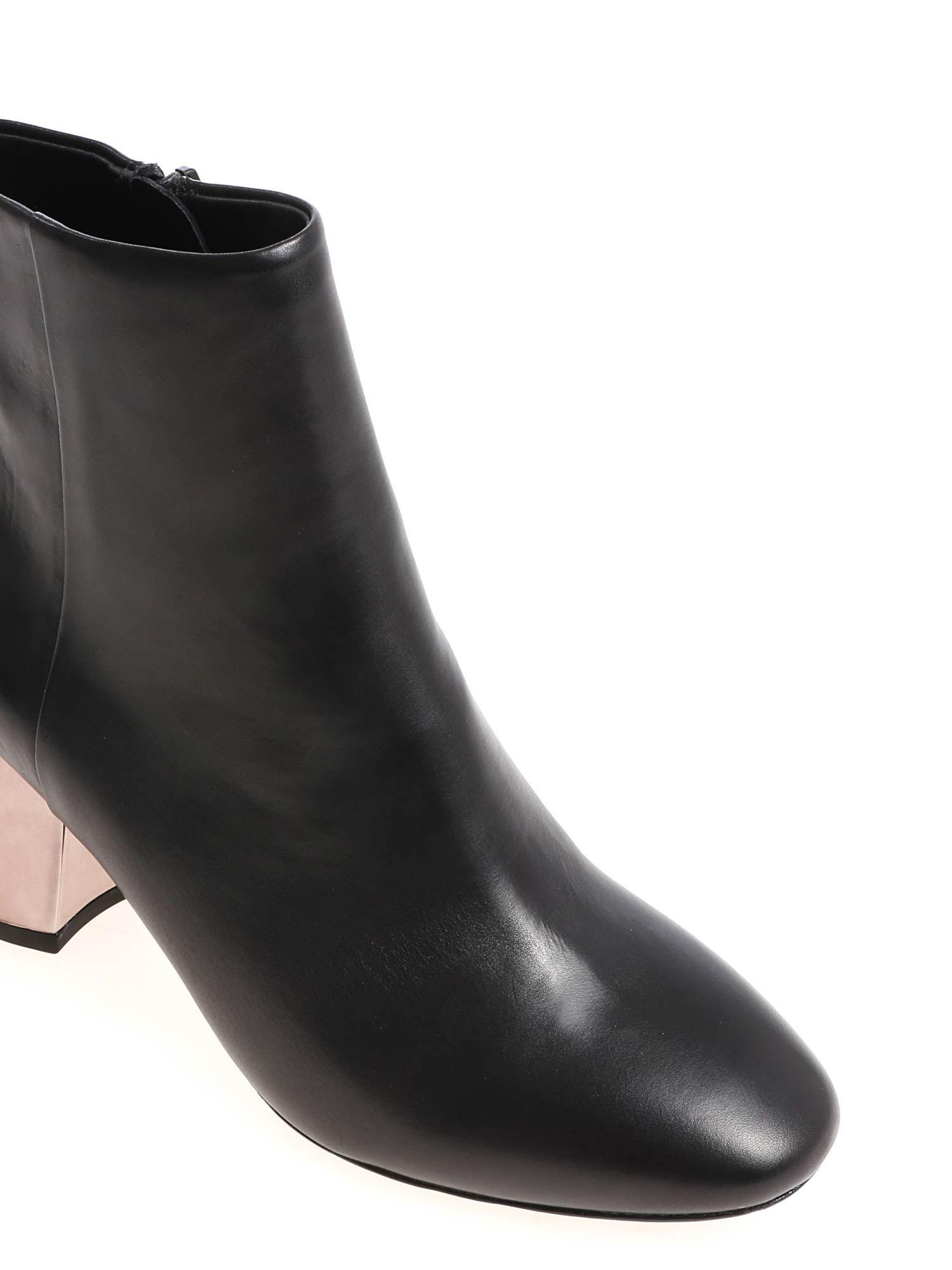separation shoes on wholesale elegant shoes Black Harlem Ankle Boots With Silver Heel