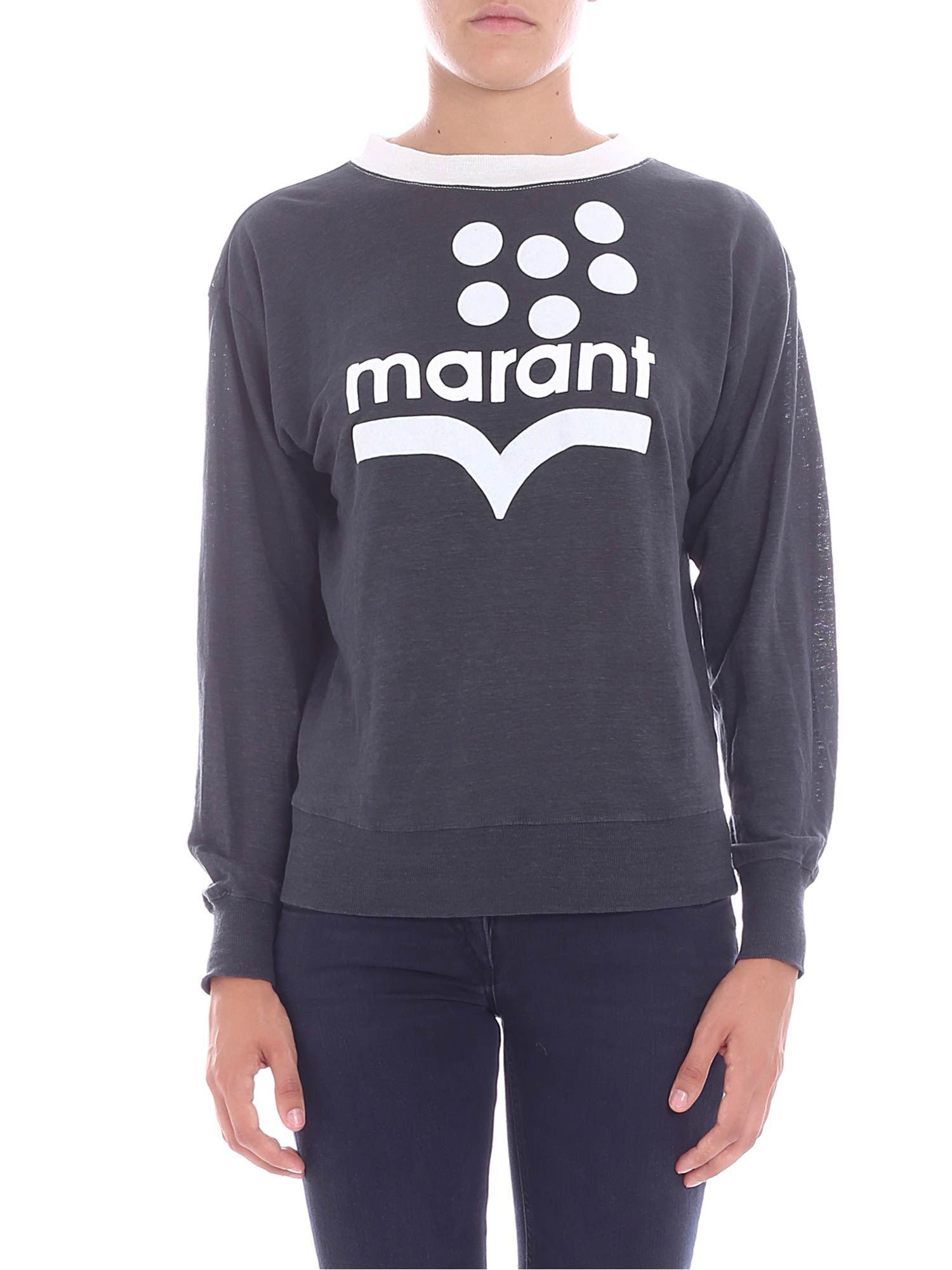 4ccc02ba Lyst - Étoile Isabel Marant Klowyn Long-sleeve Logo Tee in Gray