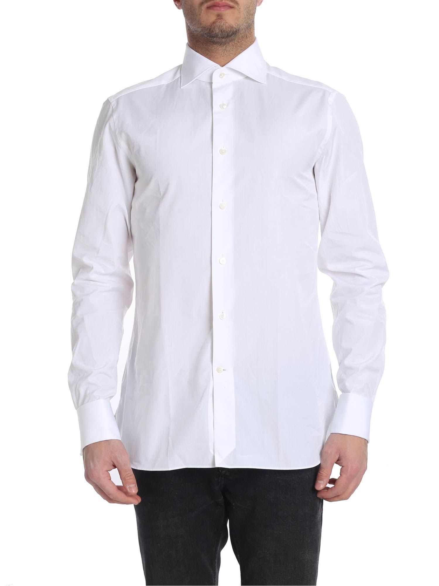 85e28a24 Lyst - Ermenegildo Zegna White Cotton Shirt in White for Men