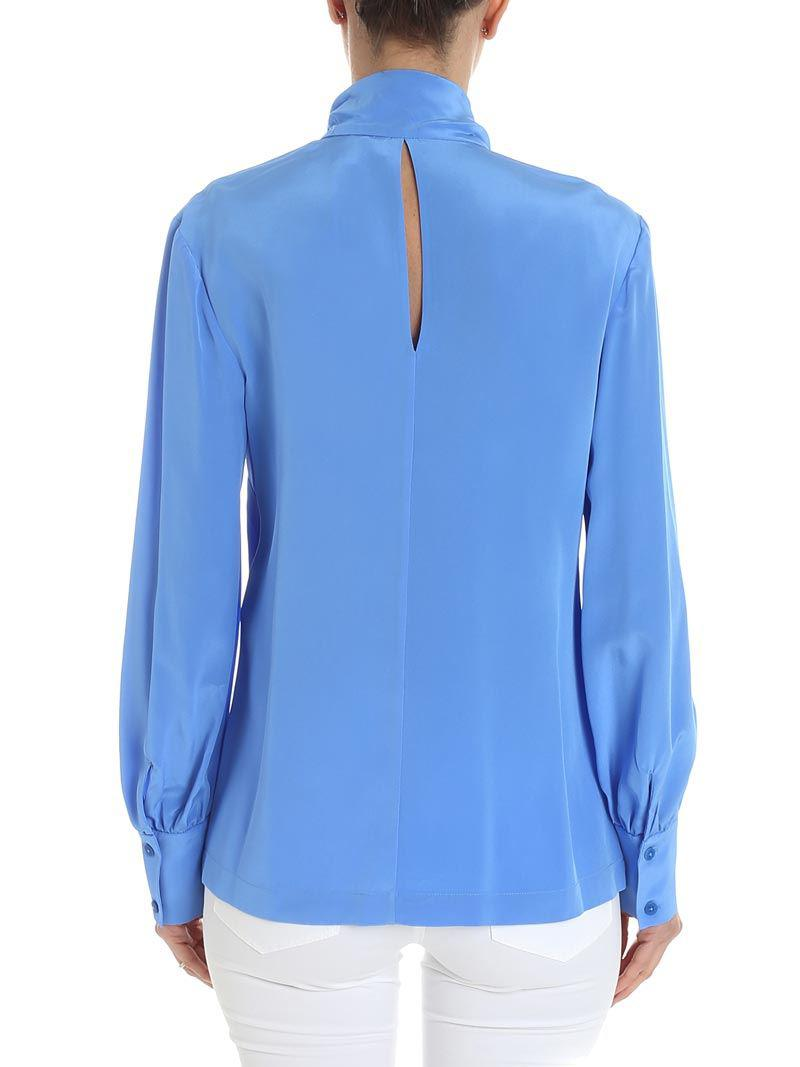 Huge Surprise For Sale Light blue Hydra blouse Diane Von F For Sale Cheap Real Buy Online Authentic Cheap Footlocker XIBMpa
