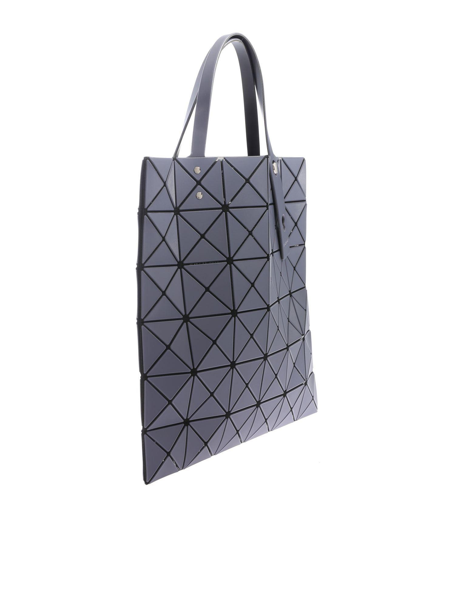 5b49bb10cb Lyst - Bao Bao Issey Miyake Lucent Frost Gray Bag With Triangle Pattern in  Gray