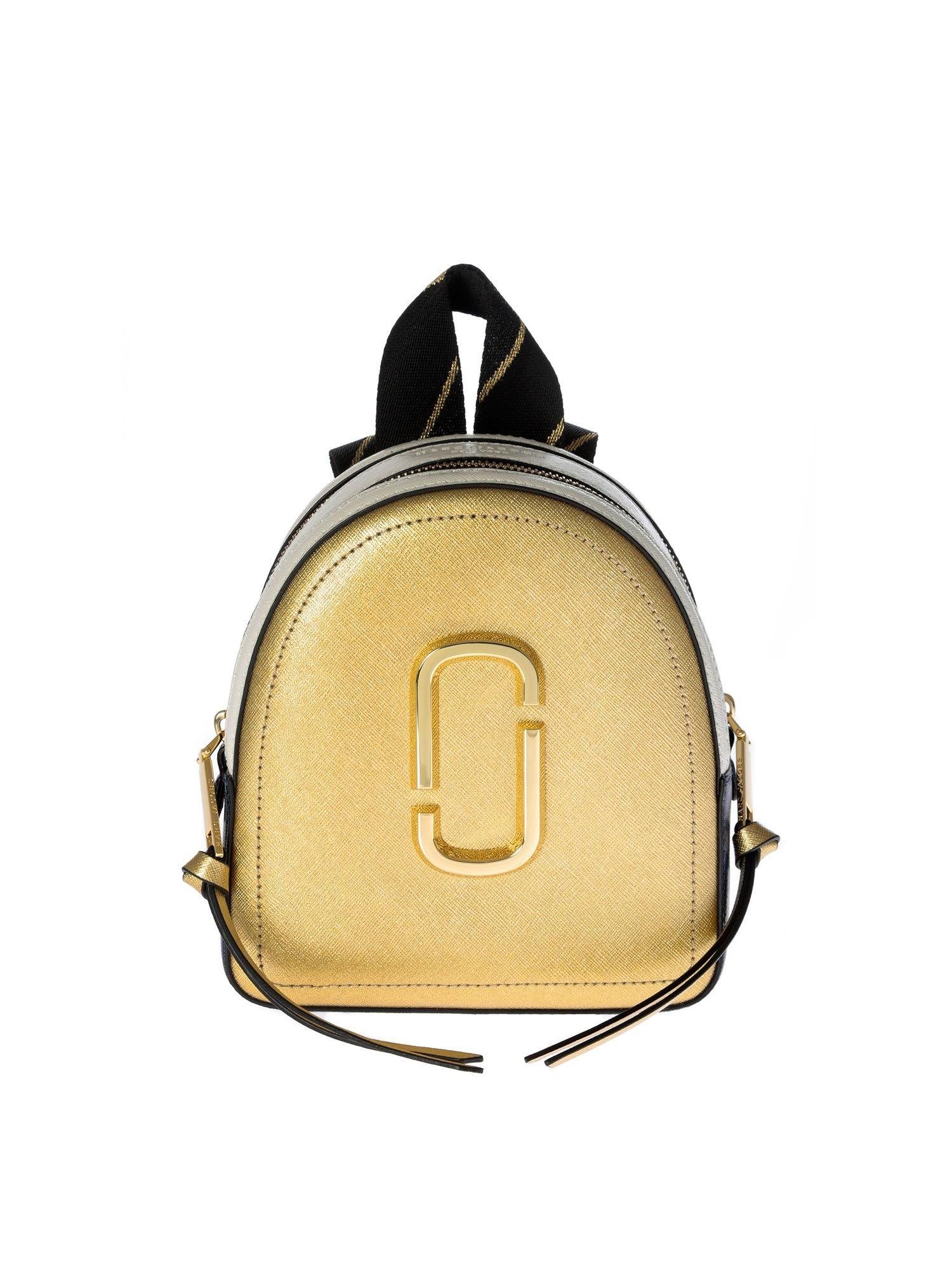 d8a7b8109f Marc By Marc Jacobs Mini Pack Shot Backpack In Gold And Blue in ...