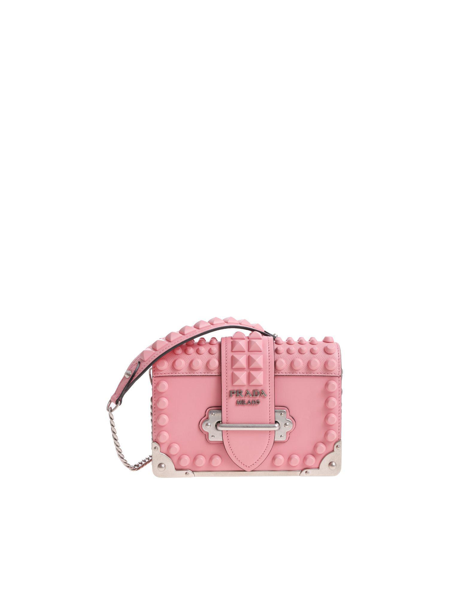 3379c8d855b5 Prada Cahier Pink Shoulder Bag in Pink - Lyst