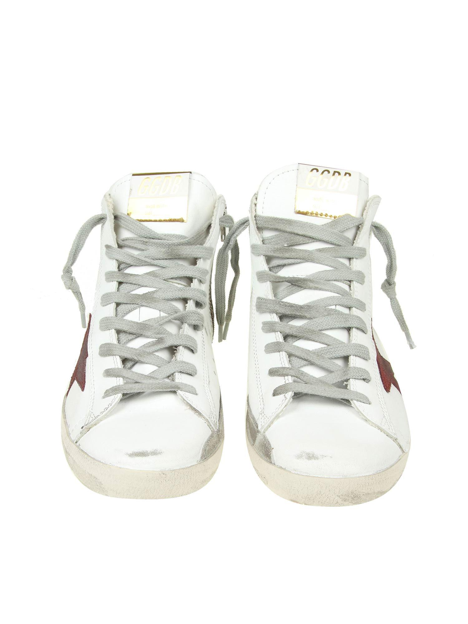 Golden Goose Deluxe Brand Leather Francy White Sneakers