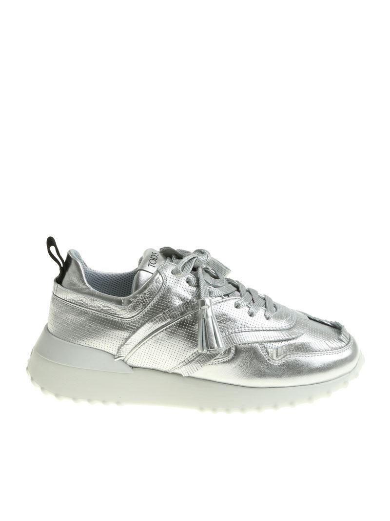 buy popular 90e9c 9e956 tods-silver-Silver-Sneakers-With-Tassels.jpeg