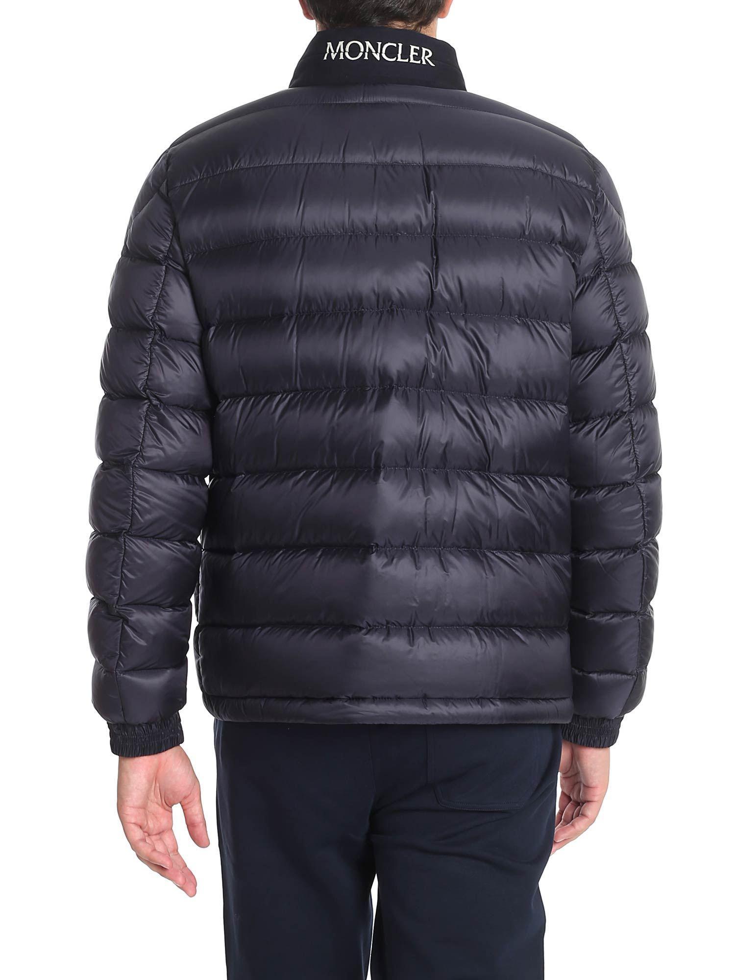 Moncler Synthetic Dark Blue Rodez Down Jacket for Men