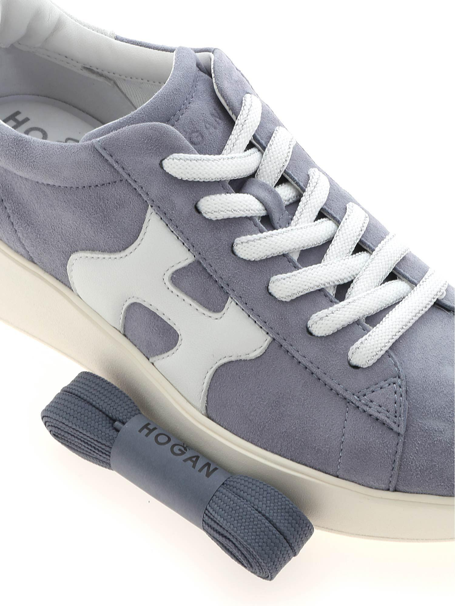 Hogan Suede H562 Sneakers in Light Blue (Blue) - Lyst