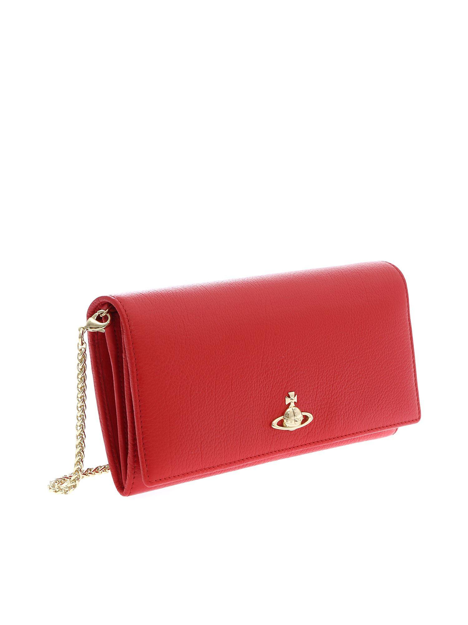4b8d1f4925 Lyst - Vivienne Westwood Red Balmoral Continental Wallet With Logo in Red