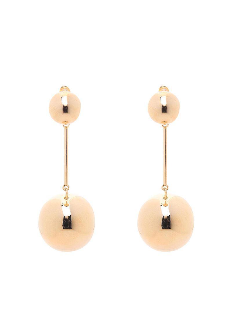 J.W.Anderson Golden sphere palladium-plated earrings RYbDnO3ik