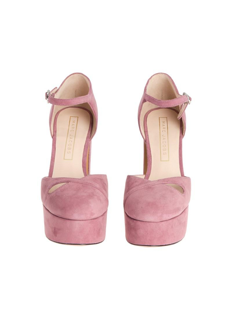 7d367d6104f Lyst - Marc Jacobs Ankle Strap Shoes in Pink