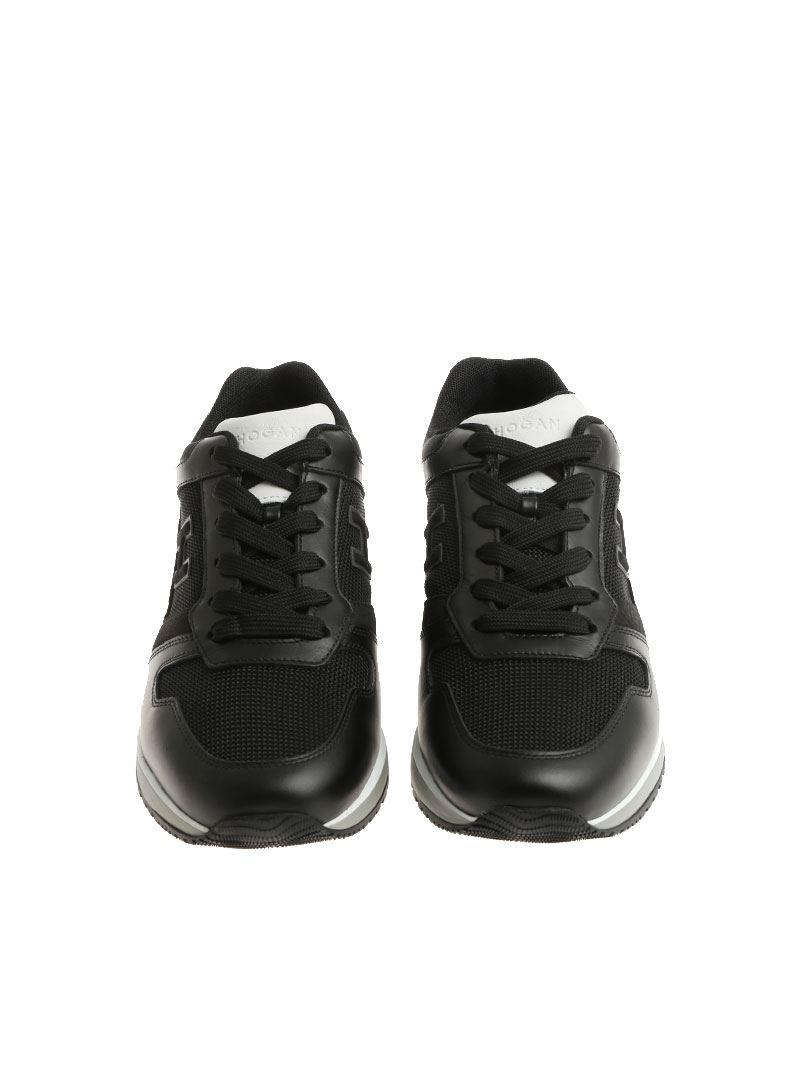 5a1d9cceb39aff Hogan Black H321 Sneakers in Black for Men - Lyst