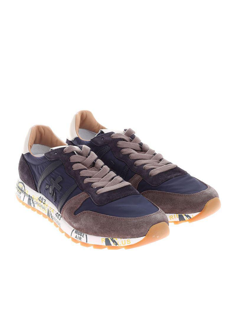 Blue and taupe Eric sneakers Premiata bhKqWCa4xh