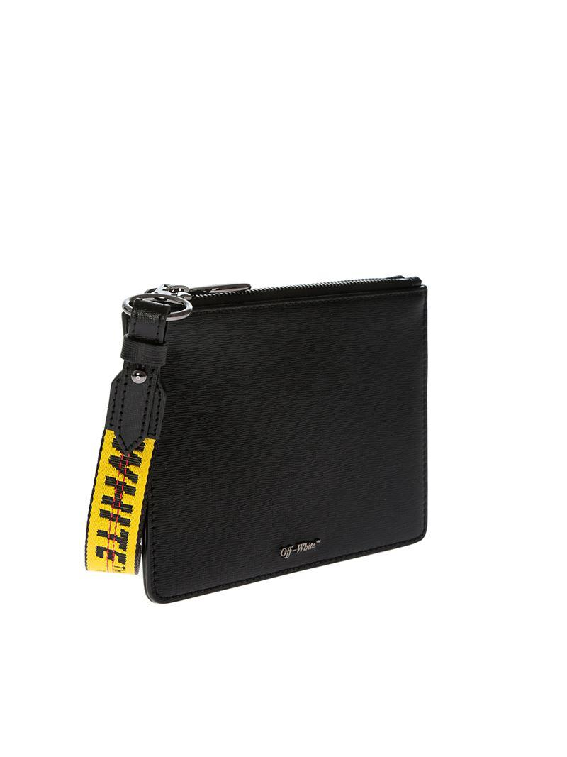 f762d779fd4b Lyst - Off-White c o Virgil Abloh Black Double Flat Pouch in White
