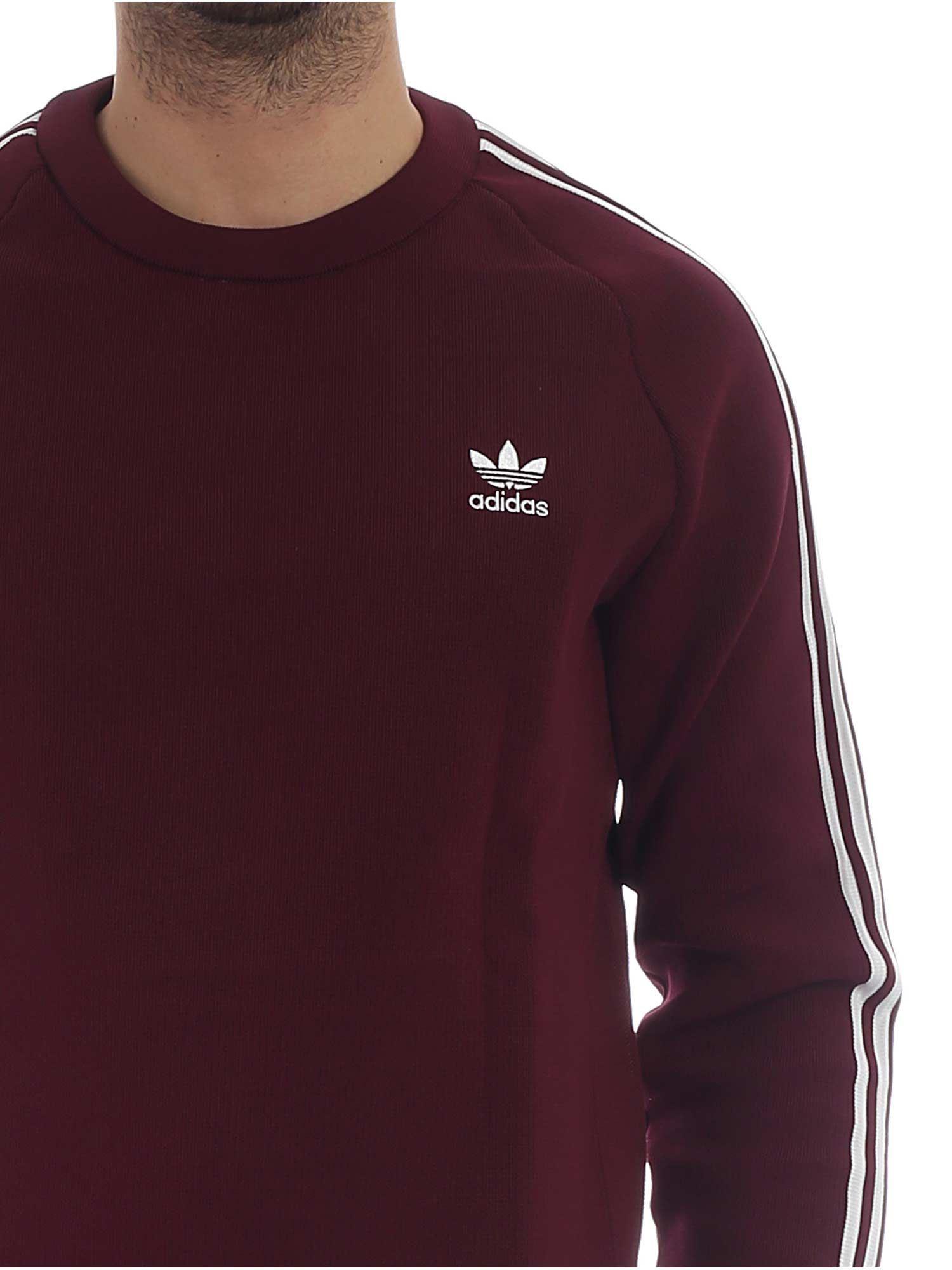 Crew Burgundy In Originals 3 White Sweatshirt With Knit Adidas xwPEaOqXO