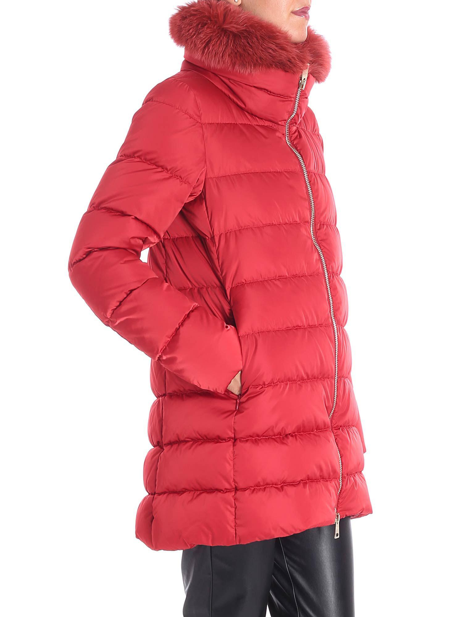 96d697c8f97f Herno Red Polar Tech Down Jacket With Removable Insert in Red - Lyst