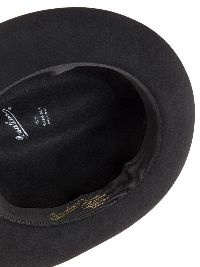 Brim Hat Sombrero Borsalino Sombrero Negro Los mejores regalos de ... bd7b117ba30
