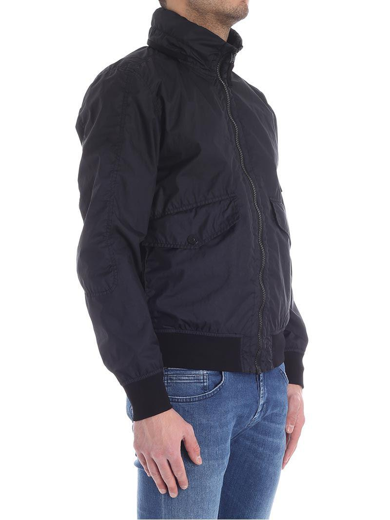 Stone Island Synthetic Dark Blue Membrane 3l Tc Jacket for Men