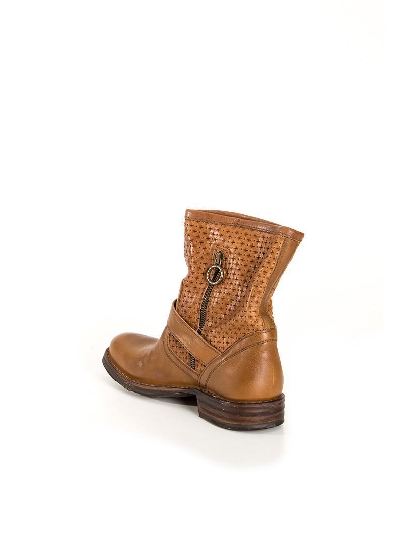 "Fiorentini + Baker Leather ""biker"" Boot in Brown"
