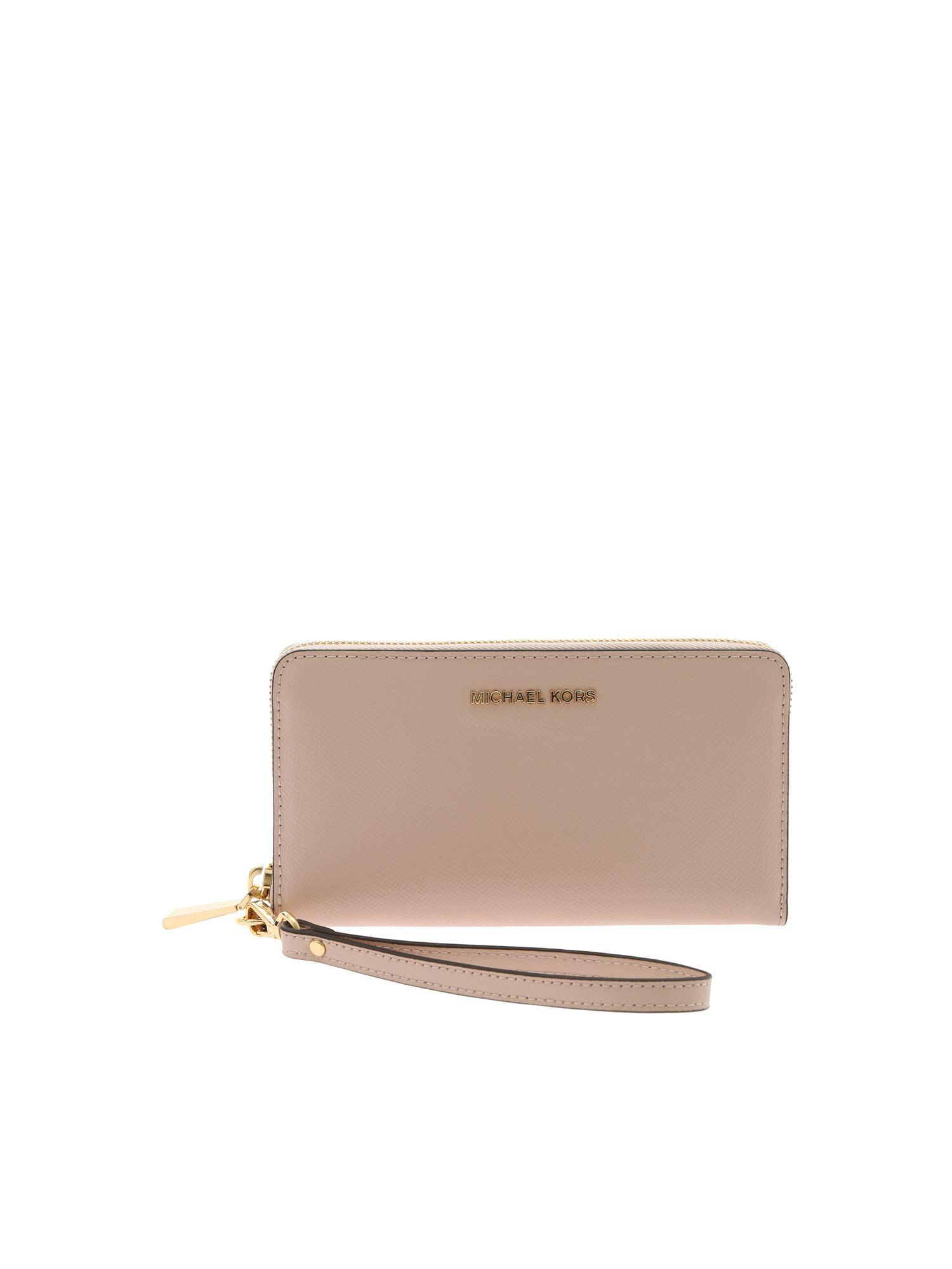 4106854ebbe240 Michael Kors - Multicolor Jet Set Travel Wallet In Pink Leather - Lyst.  View fullscreen