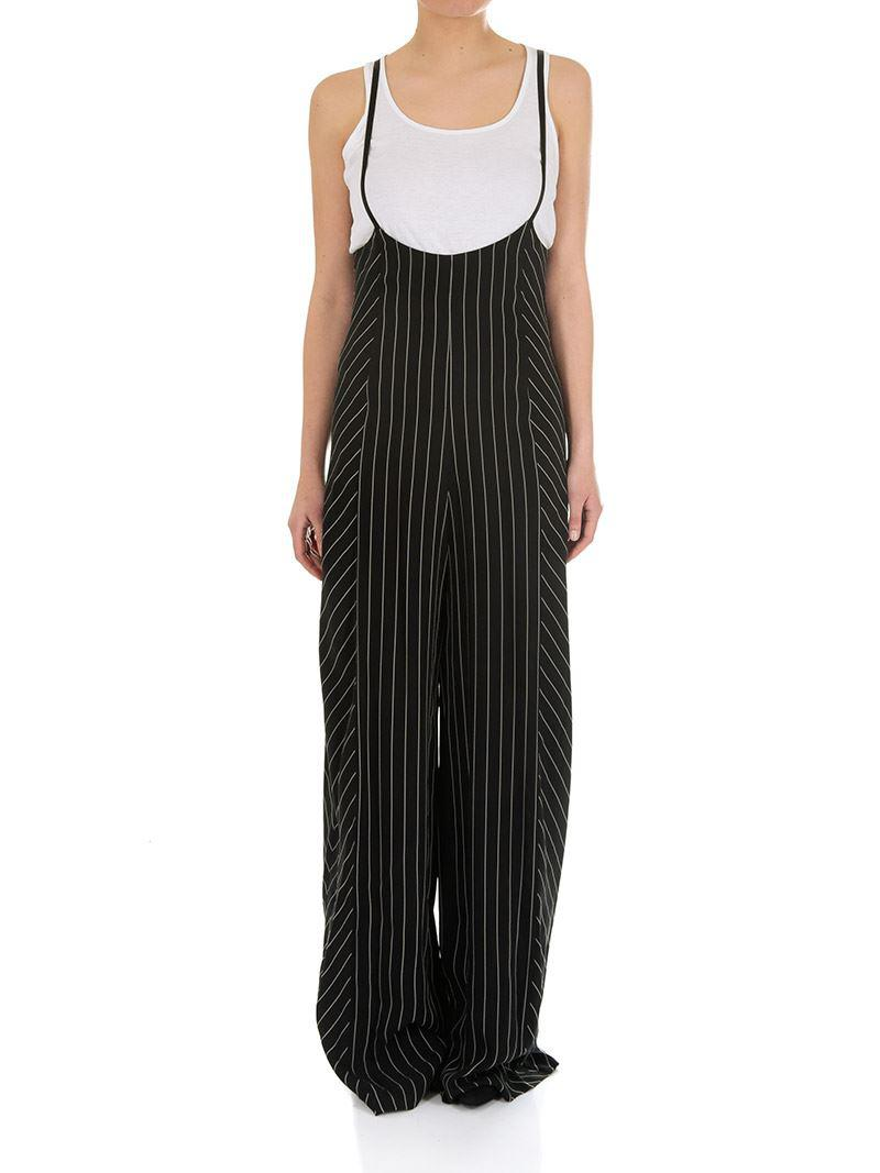 Black and white pinstriped jumpsuit Alexander Wang Sale Browse lCcI1