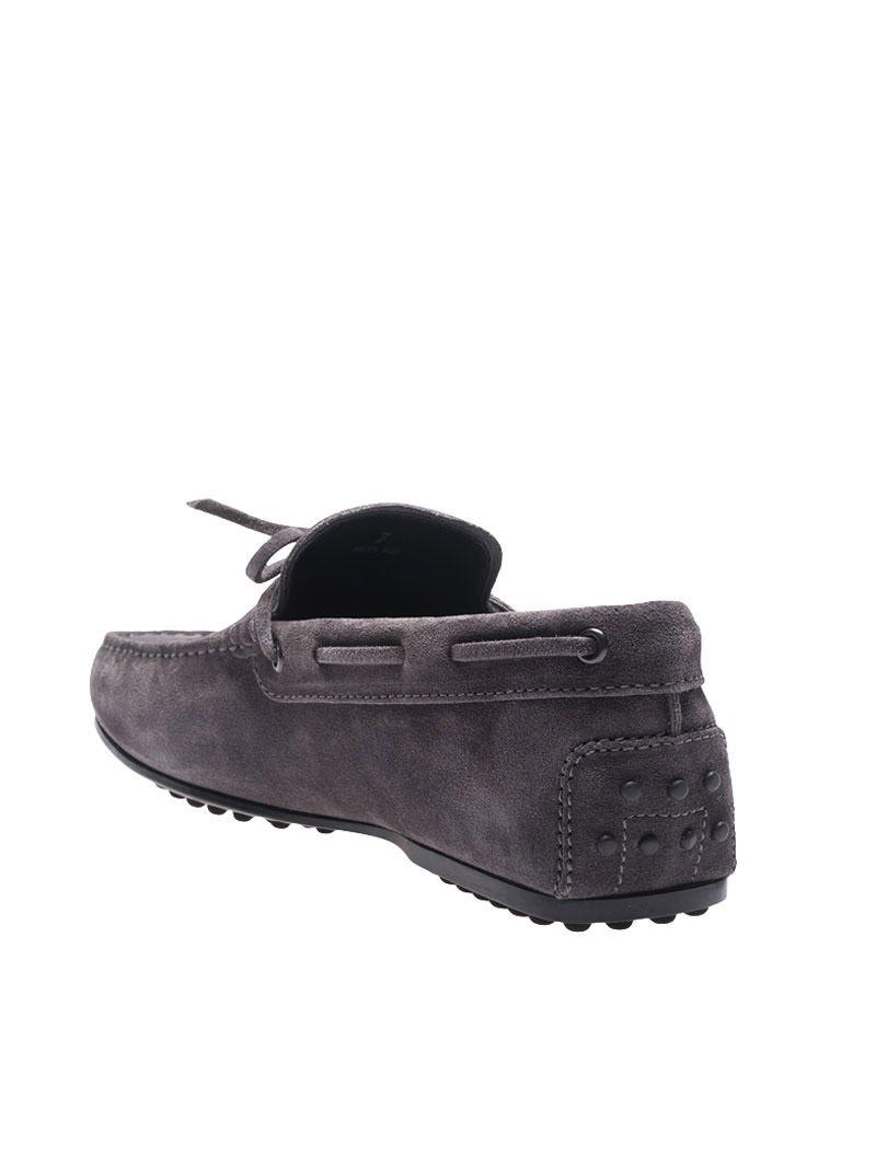 Tod's Gray Suede Loafers for Men