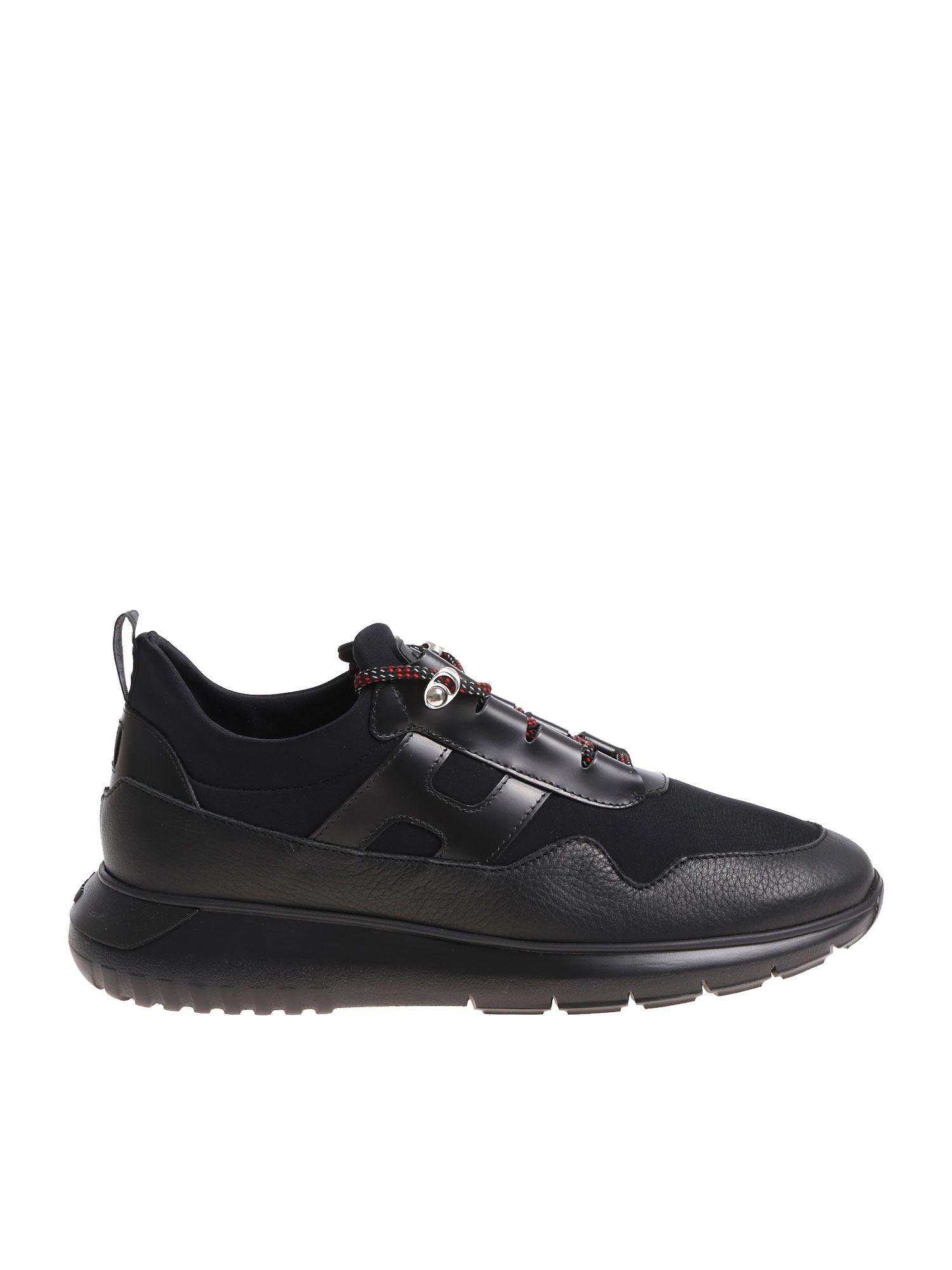 Hogan Leather Interactive 3 Black Sneakers for Men - Lyst