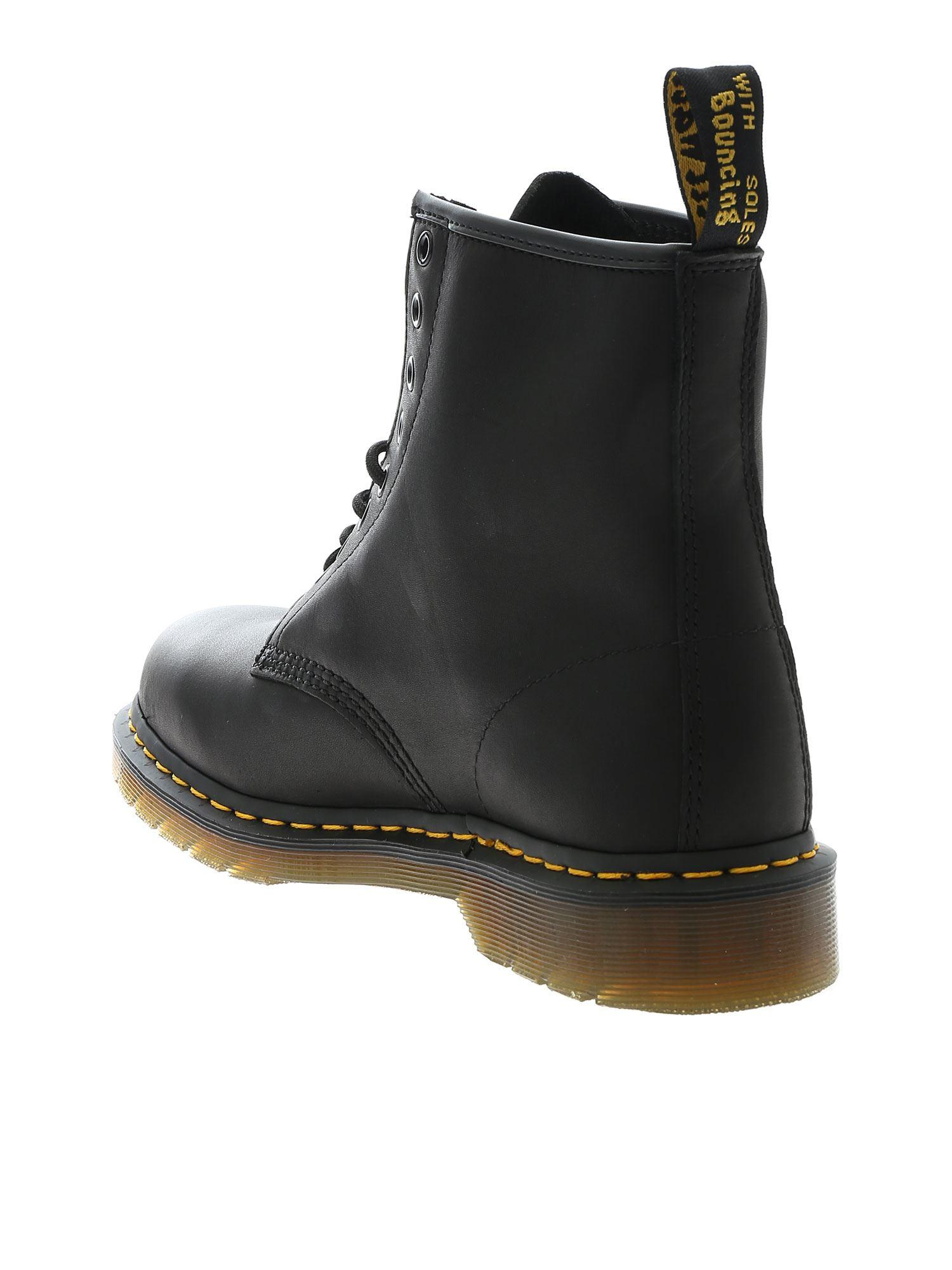 Dr. Martens Leather 1460 Greasy Boots