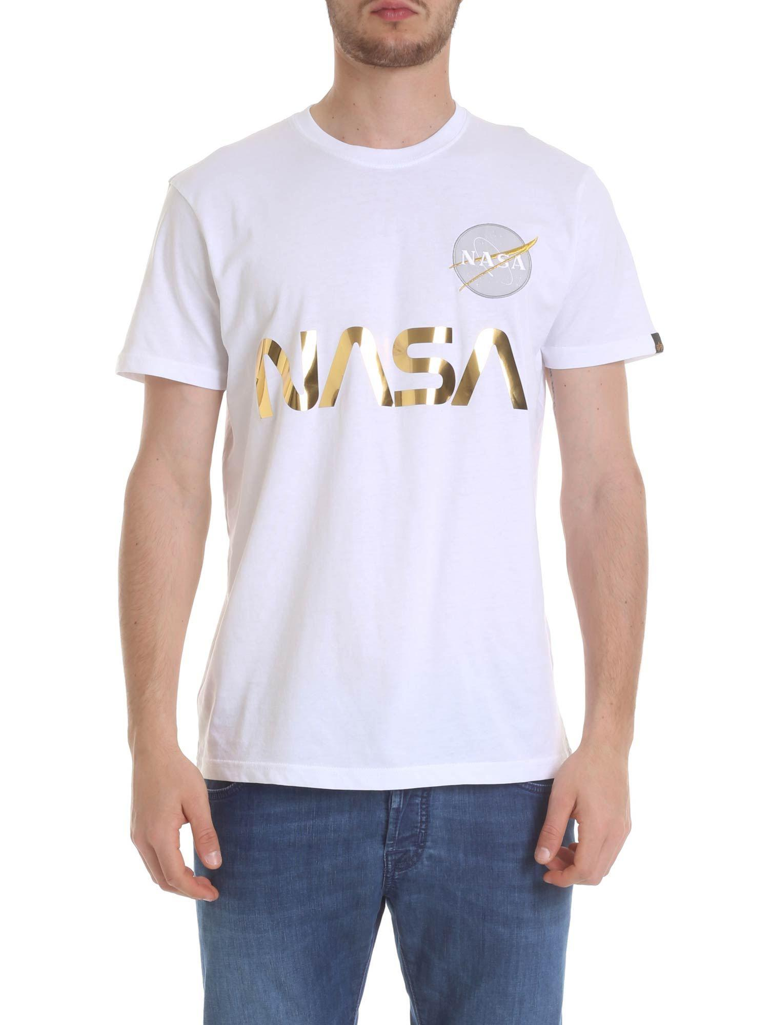 e87ad6c3 Alpha Industries Nasa Reflectivex T-shirt In White in White for Men ...