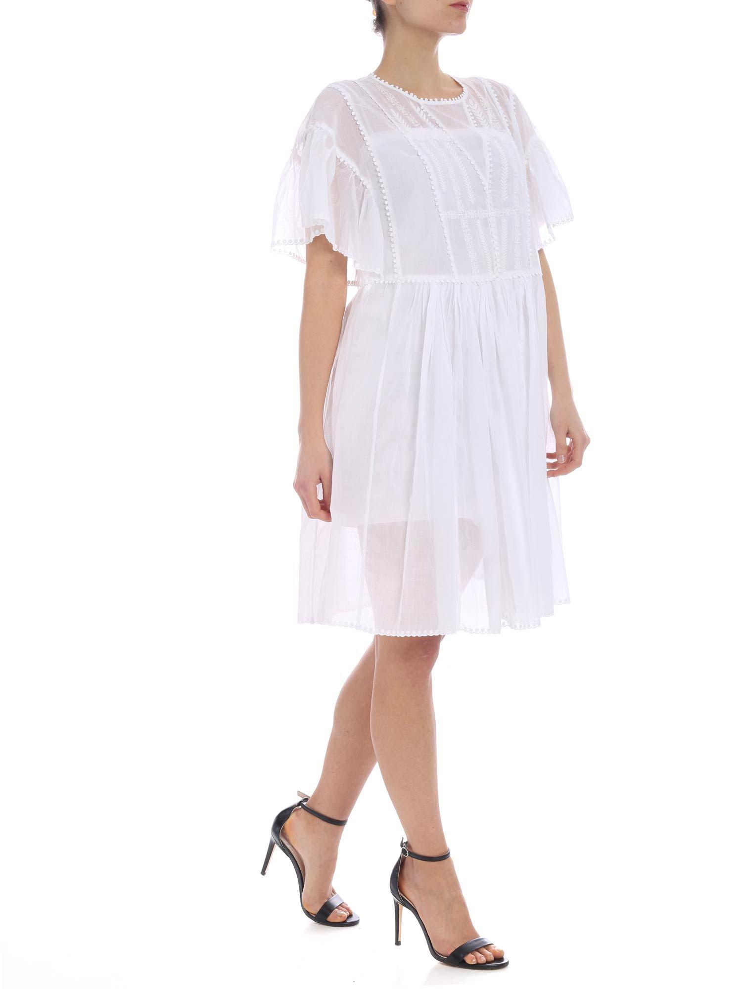 a7d9b1c34c1 Étoile Isabel Marant - White Annaelle Dress - Lyst. View fullscreen