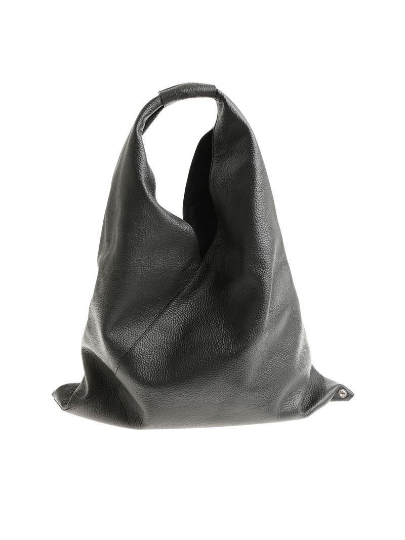 Maison Martin Margiela Black hammered leather bag 9BnfFf