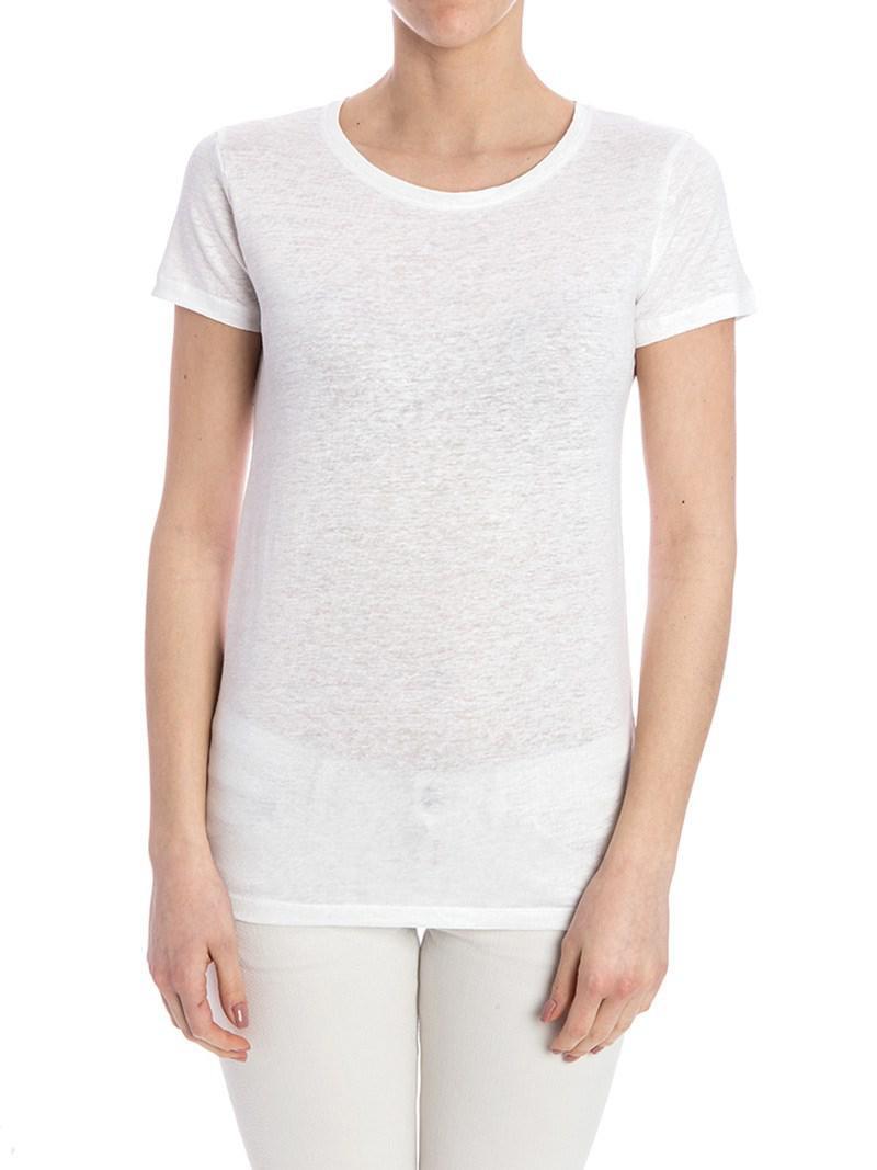 bbe814fe0eb66 Majestic Filatures - White Linen Blend T-shirt - Lyst. View fullscreen