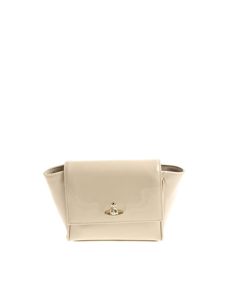 e72cd76e69320 Lyst - Vivienne Westwood Patent Leather Clutch Bag in Natural