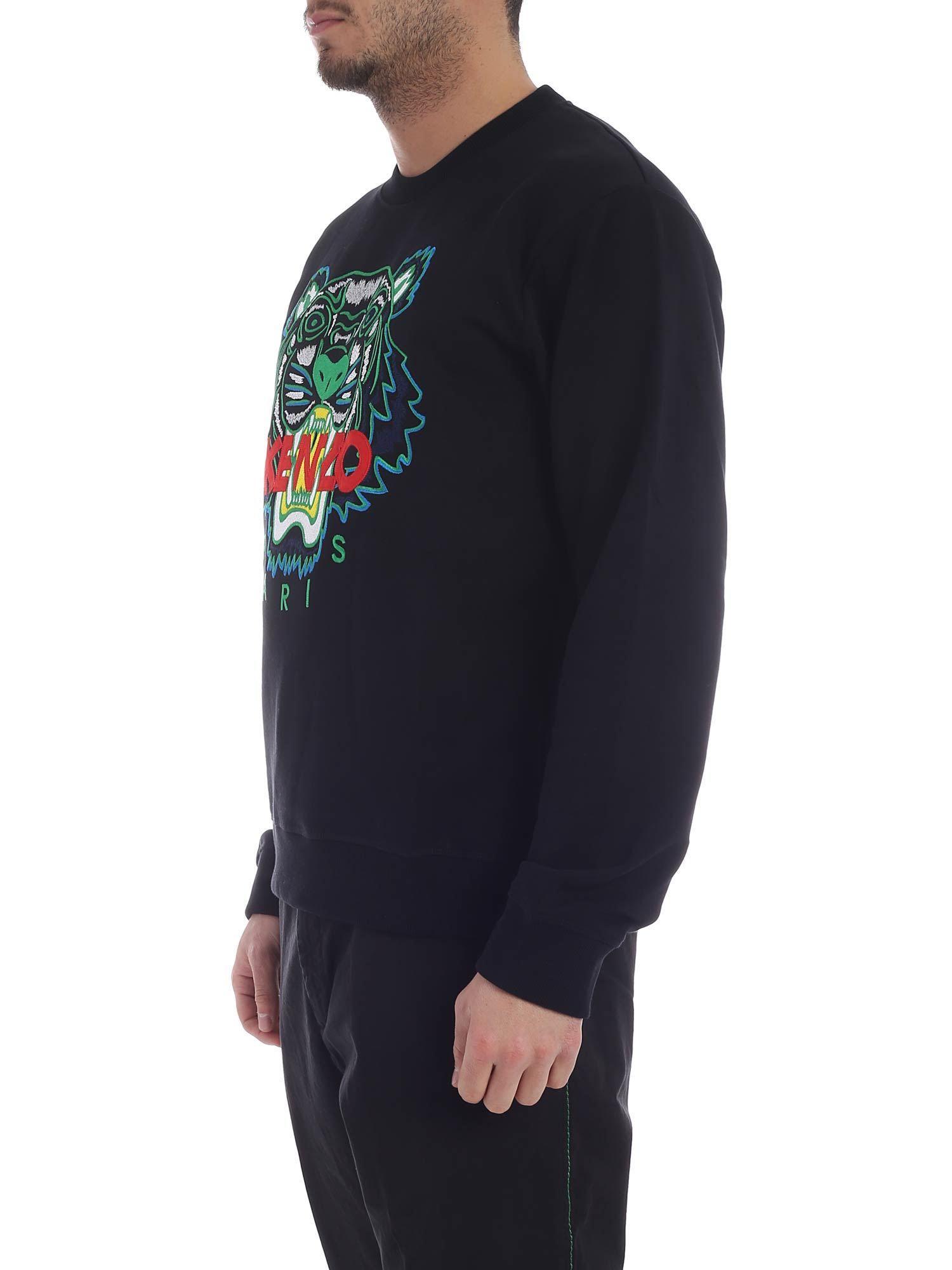 3250d00d4 Lyst - Kenzo Black Tiger Classic Sweatshirt in Black for Men