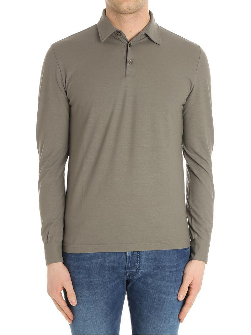 Cotton Long Sleeves Polo Spring/summer Zanone zj4osuee