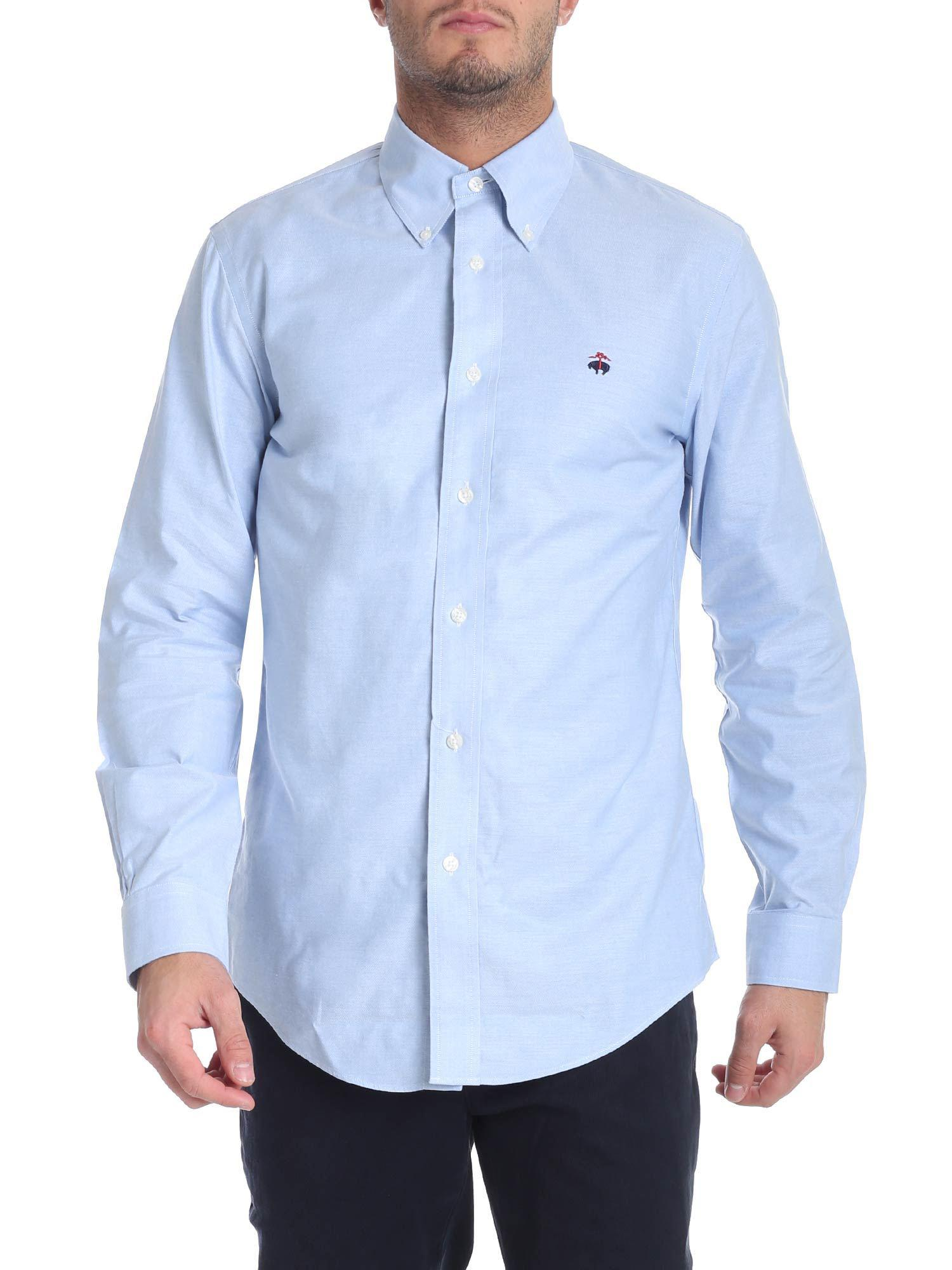 Lyst Brooks Brothers Light Blue Button Down Shirt In Blue For Men