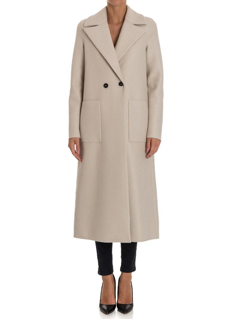 Harris Wharf London Virgin Wool Coat in Natural - Lyst 0e4eaa9f22cba