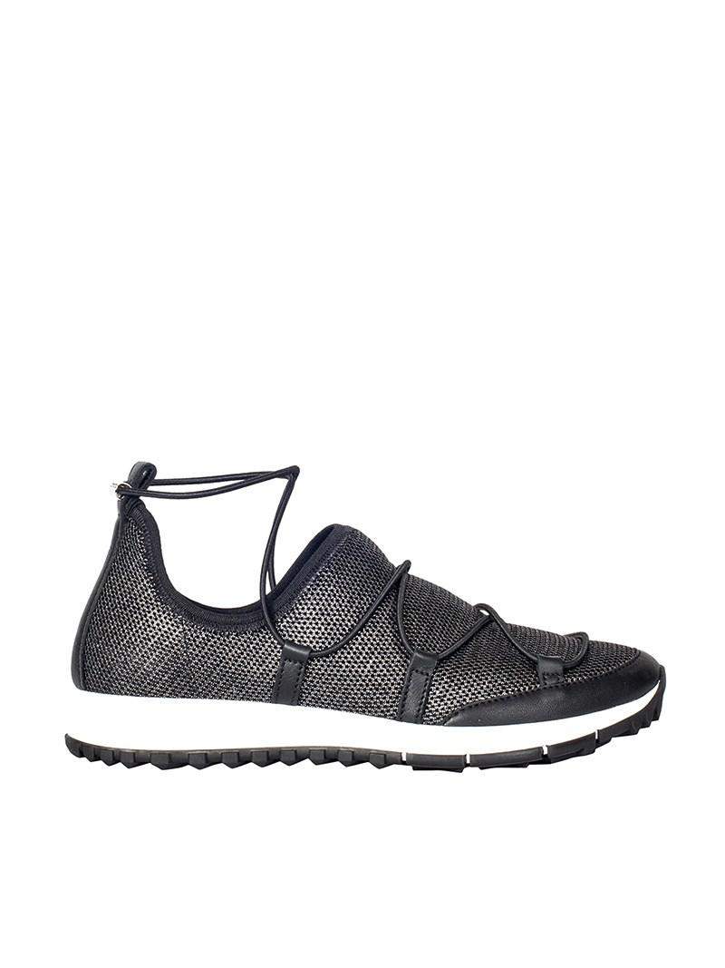 Jimmy Choo Leather Andrea Sneakers in Blue