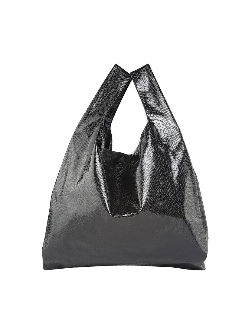 Maison Martin Margiela Black reptile printed shopping bag Q2dlCviD