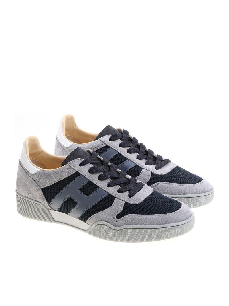 Gray and blue H357 sneakers Hogan d5jQqr4Iiu