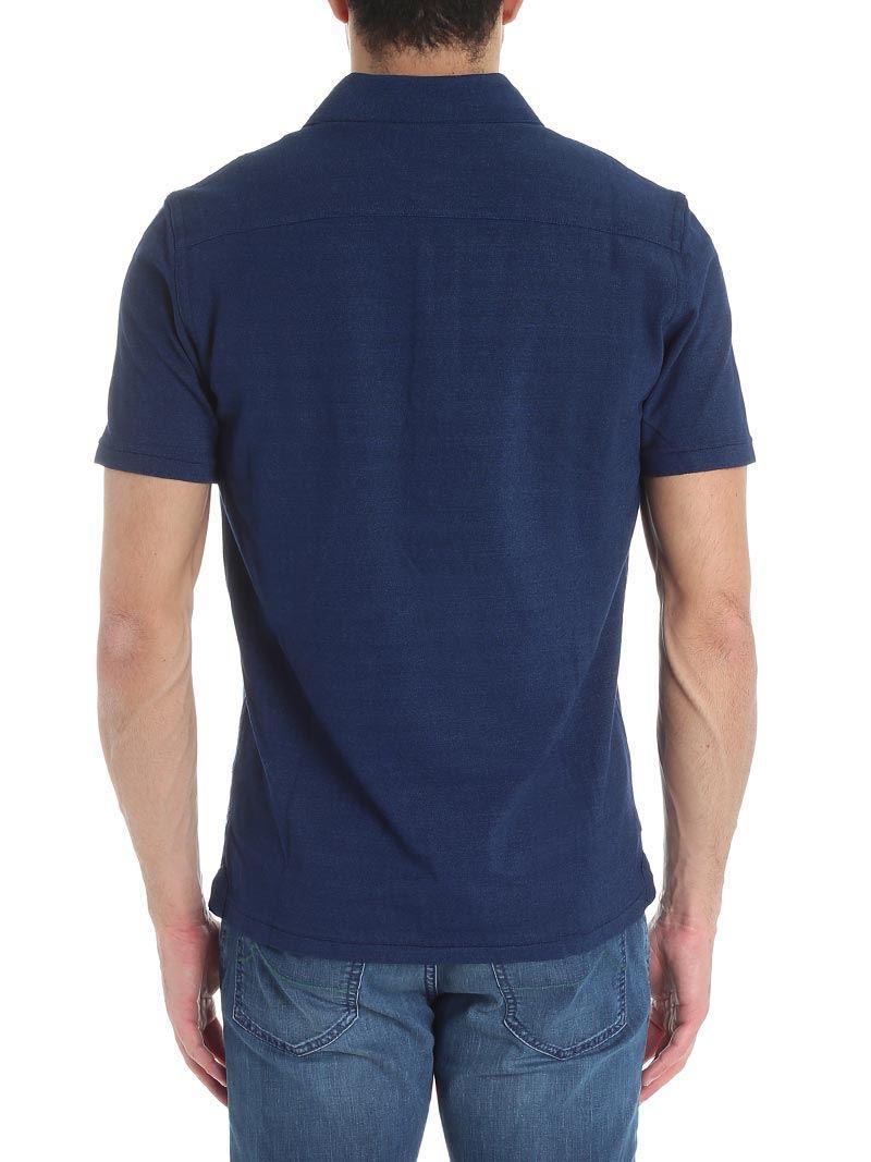 Jacob Cohen Cotton Blue Indigo Polo With Logo Embroidery for Men