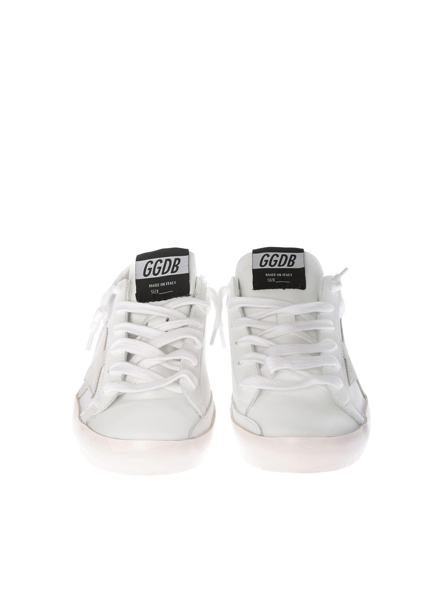 Golden Goose Deluxe Brand White Leather Superstar Sneakers