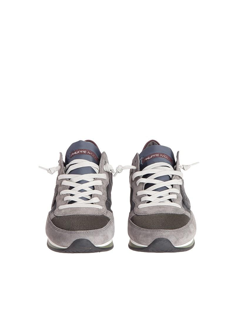 Philippe Model Leather Tropez Low Sneakers in Grey for Men