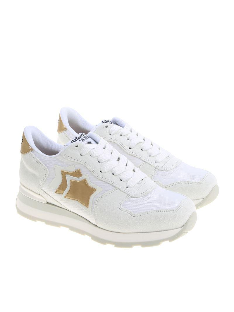 White Vega sneakers with golden details Atlantic Stars TdCBGuQ