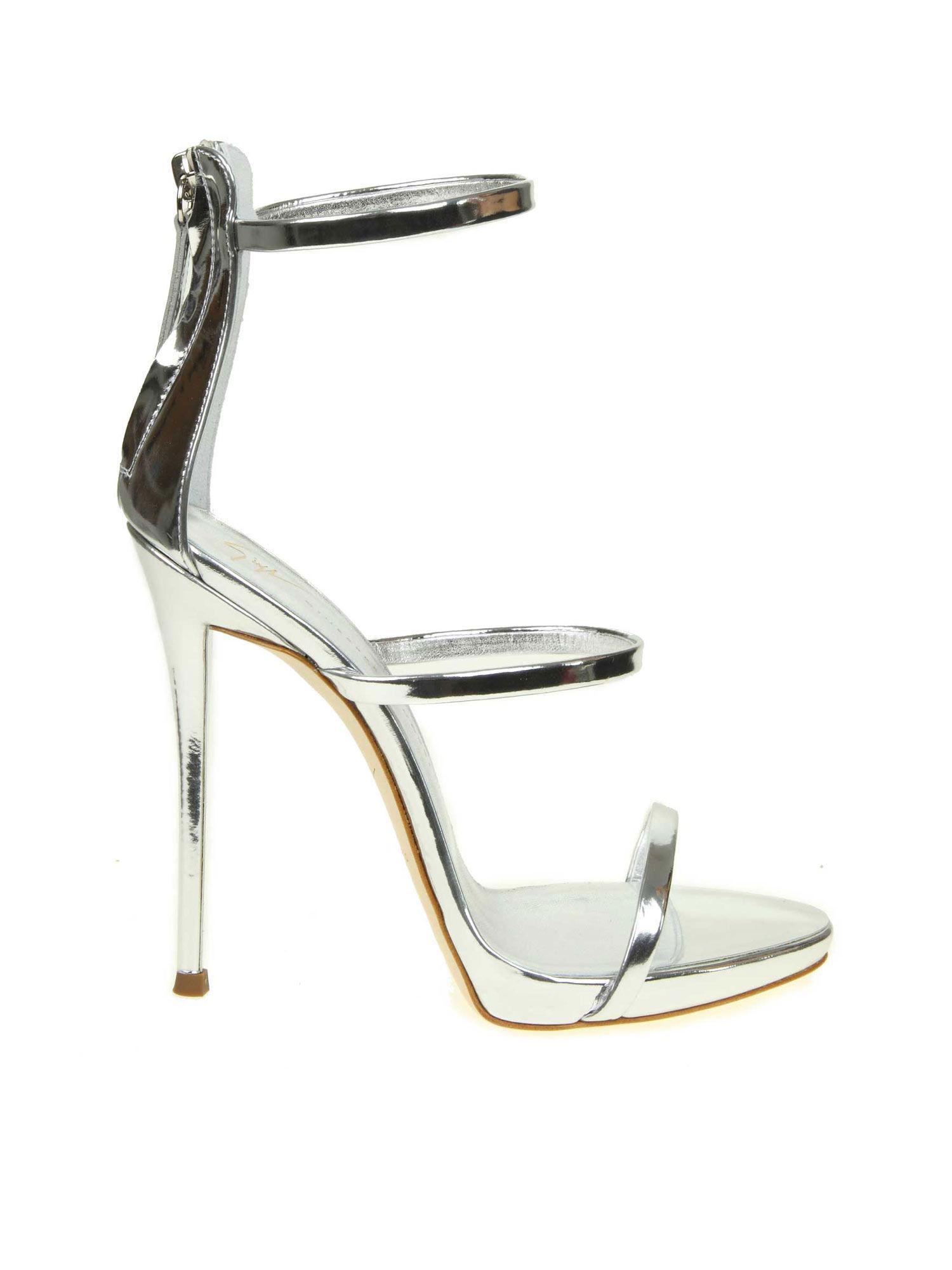 dc5db385d96f Lyst - Giuseppe Zanotti Heeled Sandals Women in Metallic - Save 9%