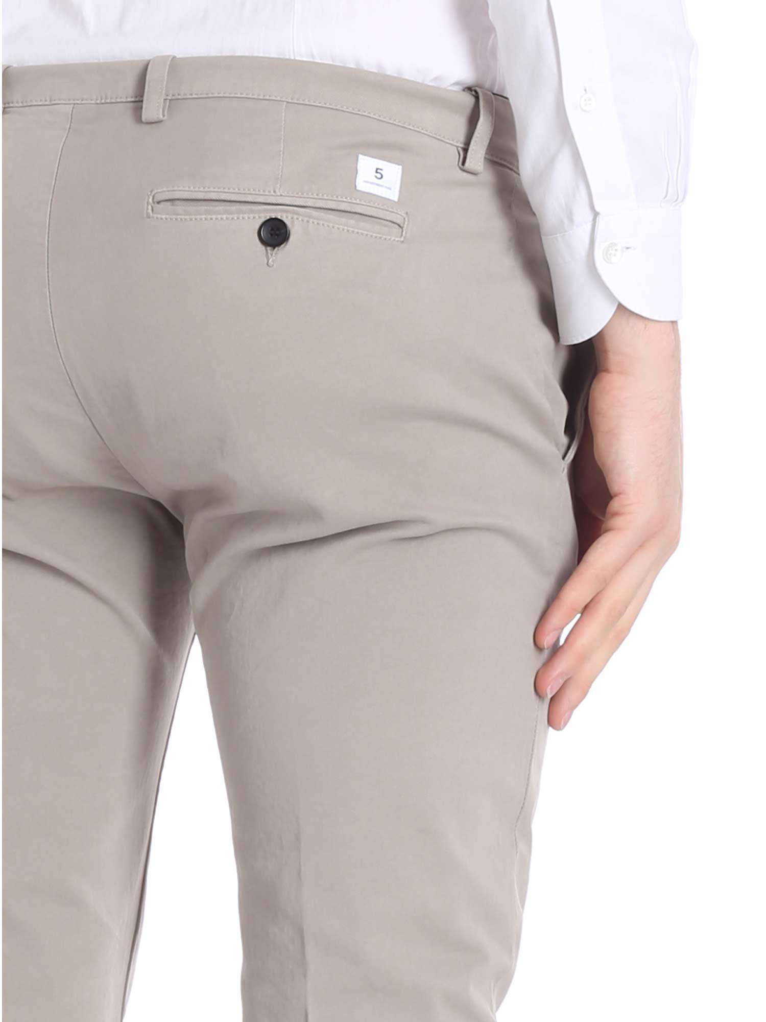 Department 5 Cotton Mike Taupe Trousers in Grey for Men