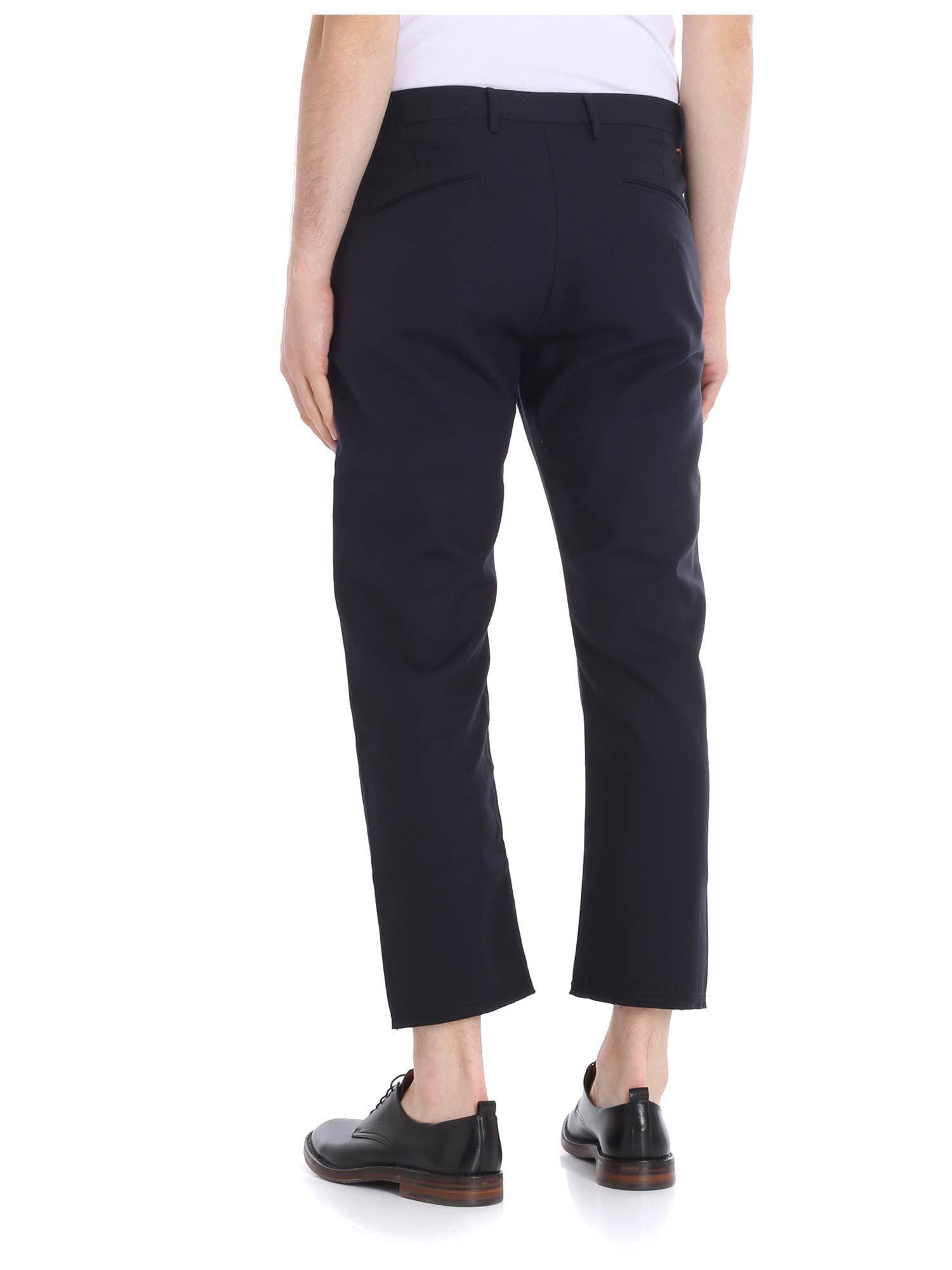 Pence Cotton Blue Baldo Trousers for Men