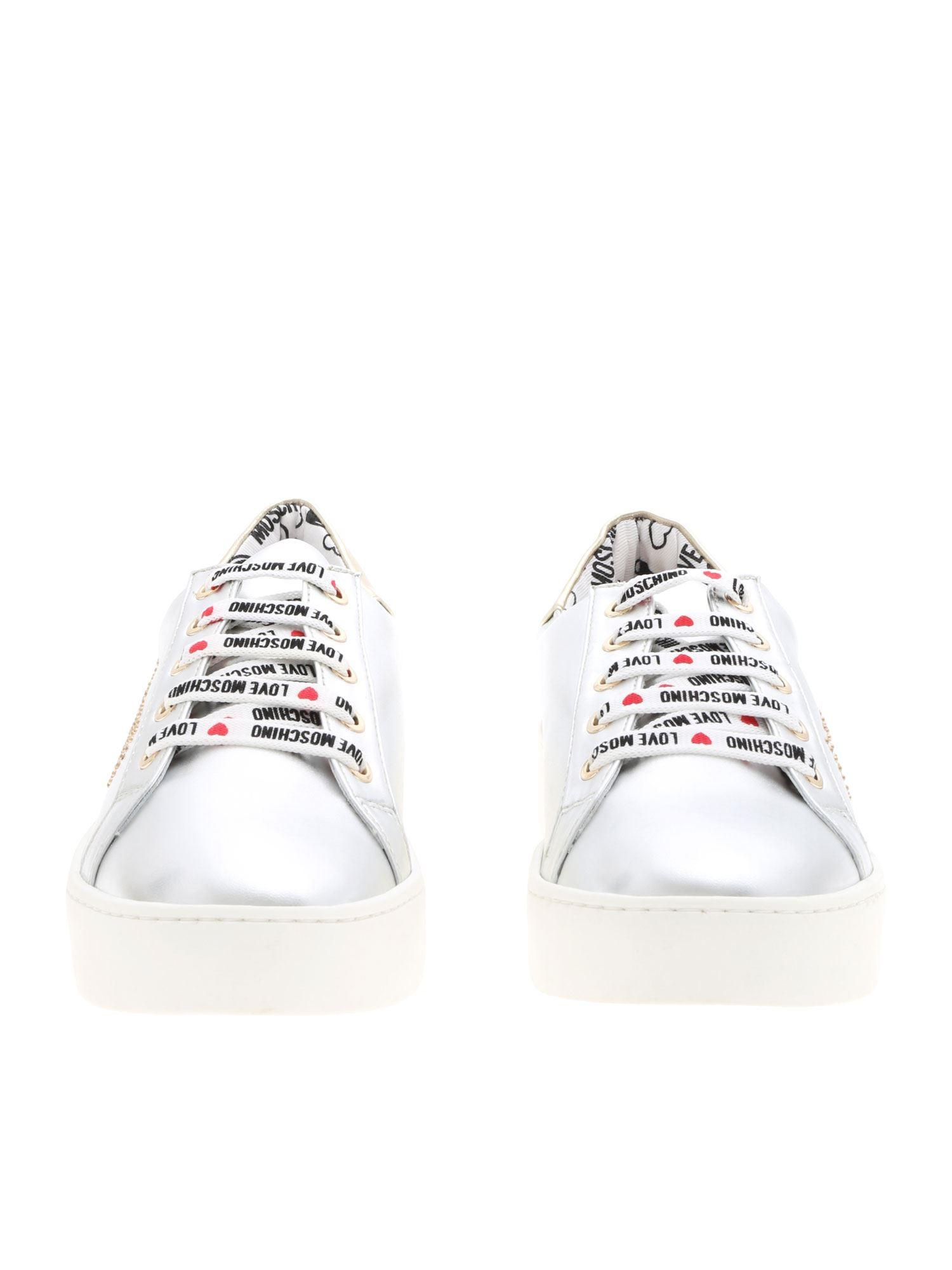 Love Moschino Leather Sneakers in
